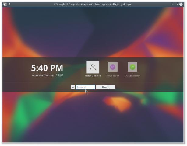 Die Bildschirmsperre soll unter Wayland endlich sicher sein. (Bild: KDE - CC BY 3.0)