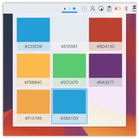 Die Farbauswahl (Bild: KDE - CC BY 3.0)