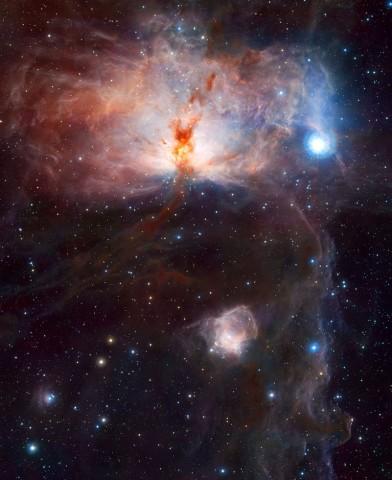 Flammennebel oder NGC 2024 in Sternentstehungsregion im Sternbild Orion (Bild: Eso/J. Emerson/VISTA. Acknowledgment: Cambridge Astronomical Survey Unit)