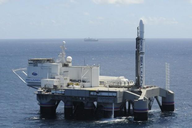 Der Startplatz des Unternehmens Sea Launch war eine umgebaute Ölbohrplattform. (Foto: Sea Launch)