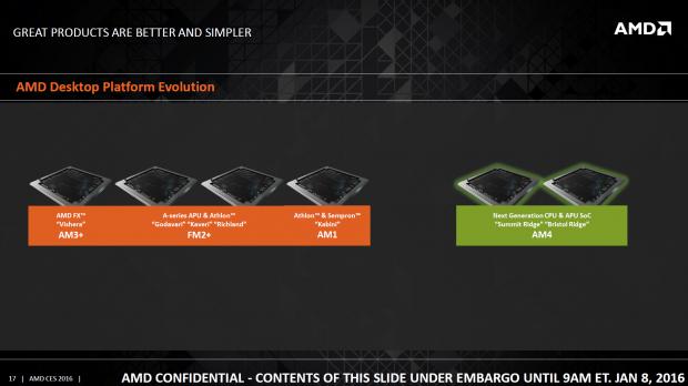 Bristol Ridge und Summit Ridge erscheinen für den Sockel AM4 (Bild: AMD)