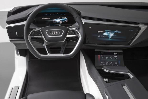 HMI nennt Audi das Virtual Cockpit des E-Tron Quattro Concept. (Bild: Audi)