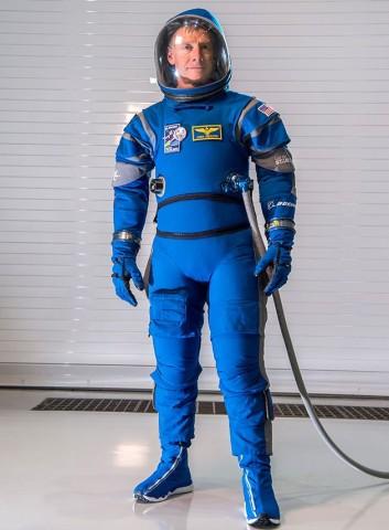 Boeing Raumanzug: Der Astronaut trägt blau. (Bild: Boeing)