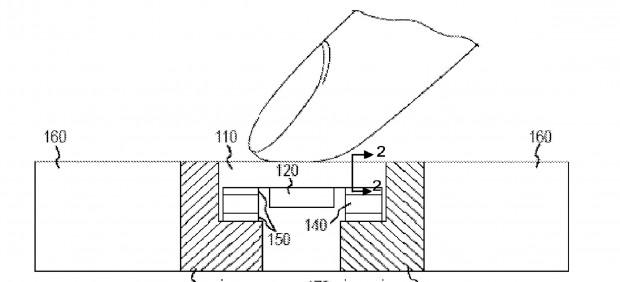 Patentantrag 20160033342 für drucksensitiven Homebutton  (Bild: US-Patent- und Markenamt)