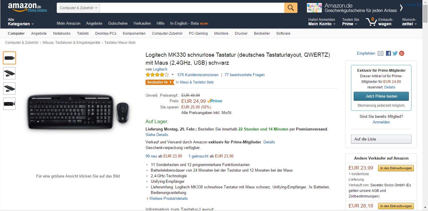 Https Aa 1602html 2016 03 01t000000 0100 Op Amp Amazonde Amazon Prime Tastatur