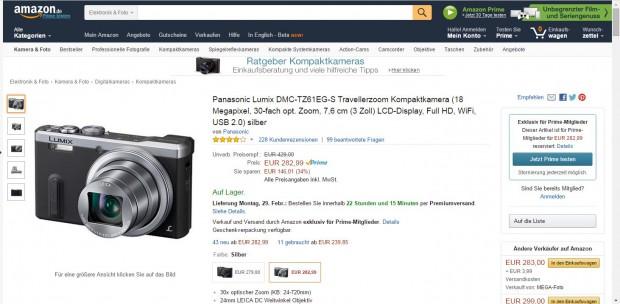 Nicht-Prime-Kunden sehen nur ein Hinweisfeld bei Amazon, dass sie das Produkt nicht bei Amazon bestellen können. (Bild: Golem.de)