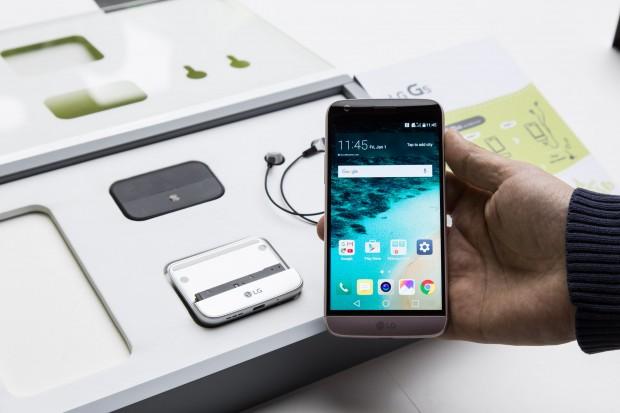 Das LG G5 (Bild: Martin Wolf/Golem.de)