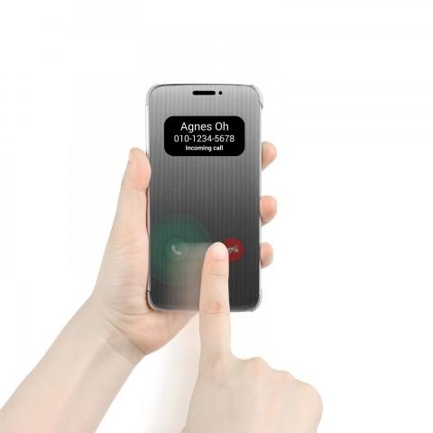 Semitransparente Klapphülle mit Touch-Funktion für das G5 (Bild: LG)