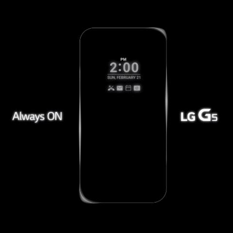 LGs G5 mit ständig eingeschaltetem Display (Bild: LG)