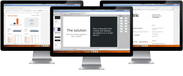 Maru bietet einen Desktop-Modus für externe Monitore. (Bild: Maru)