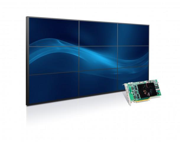 C900 mit 3x3-Videowand (Bild: Matrox)