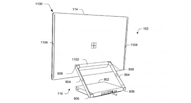 Zeichnungen zu einem modularen AiO (Bild: Microsoft)