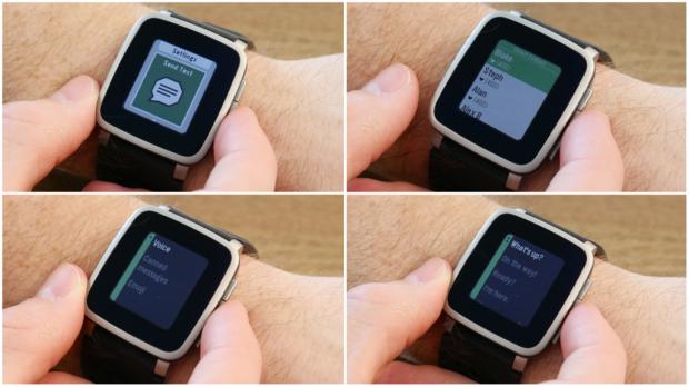 Pebble Time mit neuen Messaging-Funktionen für Android-Nutzer (Bild: Pebble)