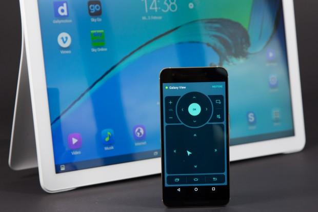 Mit Samsungs Fernbedienungs-App kann das Galaxy View aus der Ferne bedient werden. (Bild: Martin Wolf/Golem.de)