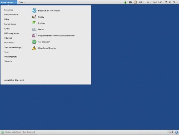 Der klassische Modus von Gnome orientiert sich an traditionellen Desktop-Umgebungen. (Screenshot: Jürgen Donauer)