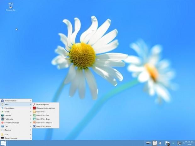 Bei früheren Tails-Versionen ließ sich das System als Windows tarnen. Das funktioniert derzeit nicht. (Screenshot: Jürgen Donauer)
