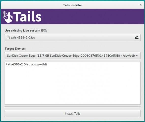 Sind USB-Stick und ISO-Abbild ausgewählt, kann die eigentliche Installation beginnen. (Screenshot: Jürgen Donauer)