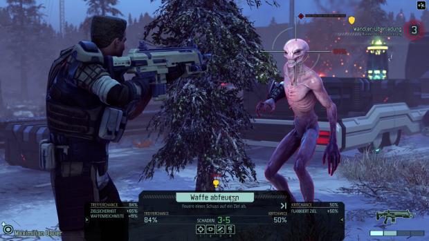 Auge in Auge mit einem Alien - zum Glück sind wir am Drücker. (Screenshot: Golem.de)