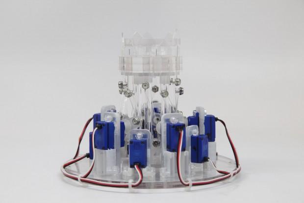 Prototyp des Hydromorph: Mehr Pfeile sollen eine höhere Auflösung ergeben. (Foto: Tangible Media Group/MIT)