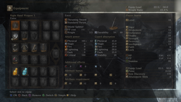 dark souls slots