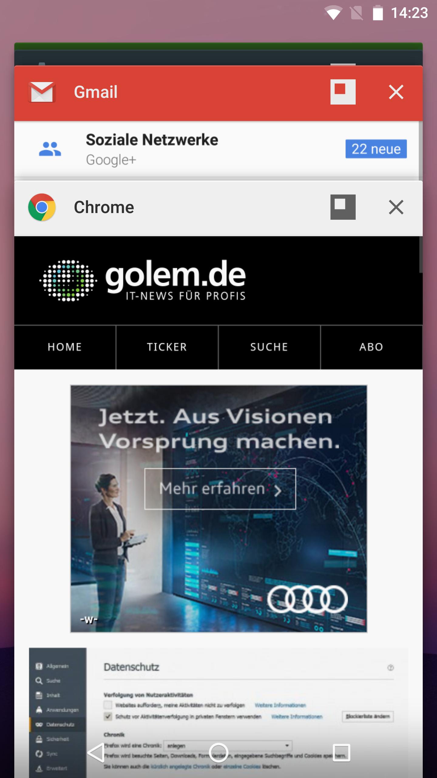 Freeform im Hands on: Android Ns versteckter Fenstermodus -