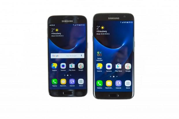 Links das Galaxy S7, rechts das Galaxy S7 Edge (Bild: Martin Wolf/Golem.de)