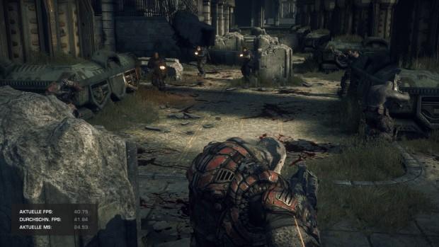 Der integrierte Benchmark von Gears of War (Screenshot: Marc Sauter/Golem.de)