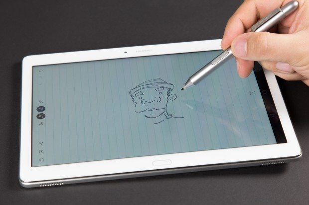 Dank 2.048 Druckstufen lässt sich mit dem Stift auch zeichnen. (Bild: Martin Wolf/Golem.de)