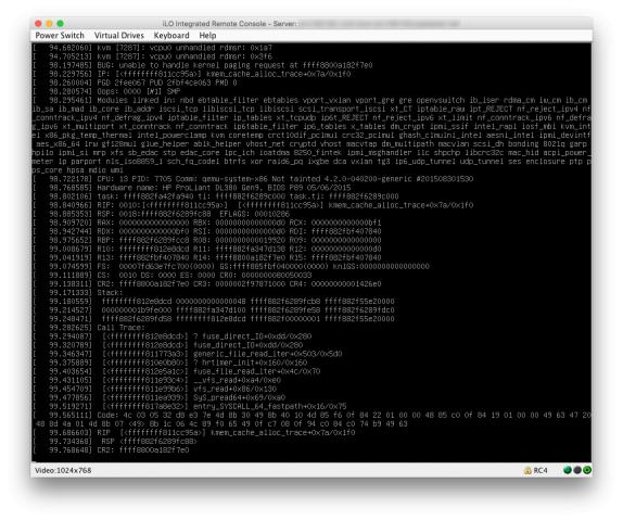 Während dieser Stack-Trace klare Rückschlüsse auf das Problem zulässt ... (Screenshot Martin Loschwitz)
