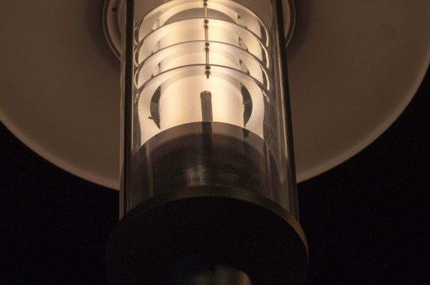 Kaum zu erkennen: In der Mitte des Glaskörpers steckt eine WLAN-Antenne. (Foto: Andreas Sebayang/Golem.de)