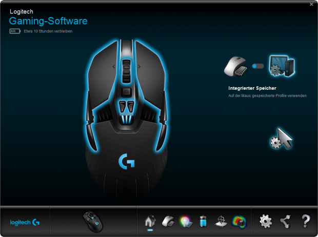 Logitech Gaming Software mit der G900 (Screenshot: Marc Sauter/Golem.de)