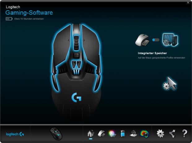 Logitech Gaming Software mit der G900 (Screenshot: Marc Sauter/Golem.de)