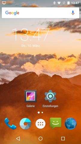 Das Android-System von Maru entspricht einem puren Android 5.1.1. (Screenshot: Golem.de)