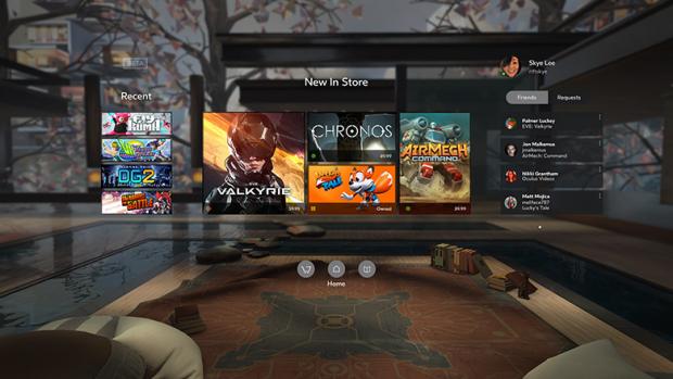 Oculus Home, quasi das Startmenü (Screenshot: Oculus VR)