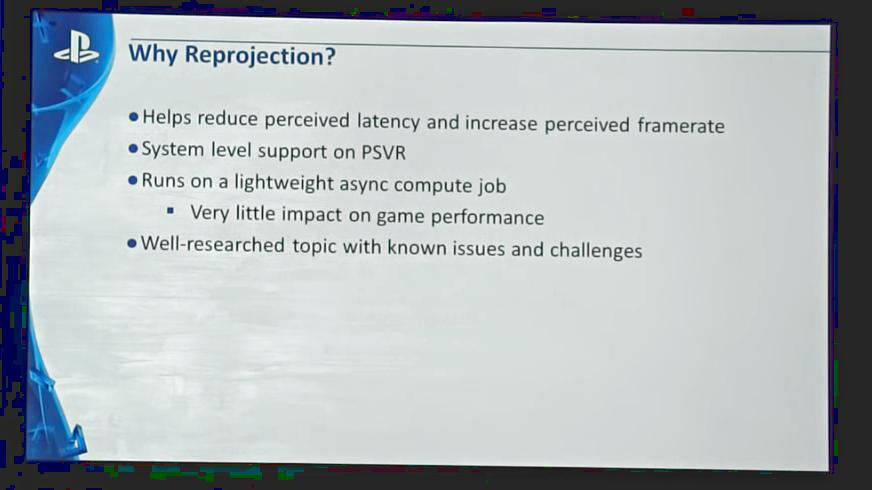 """Playstation VR: """"Spiele mit unter 60 fps lehnen wir ab"""" - Async Reprojection beim Playstation VR (Bild: Sony)"""