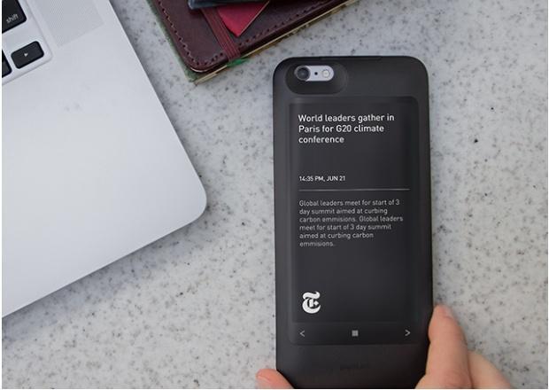 Popslate 2: E-Ink-Bildschirm fürs iPhone 6s und 6s Plus - Popslate 2 (Bild: Indiegogo)
