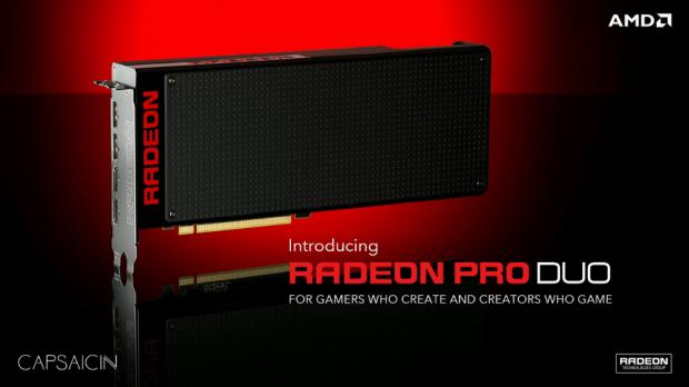Präsentation der Radeon Pro Duo (Bild: AMD)