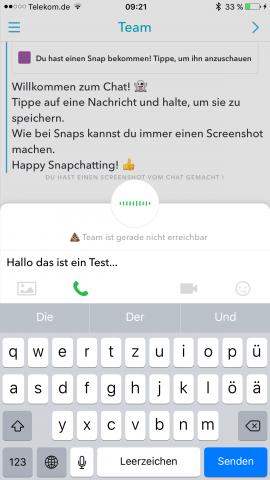 Mit den Symbolen über der Tastatur können Nutzer die Kommunikationsform wechseln. (Screenshot: Golem.de)