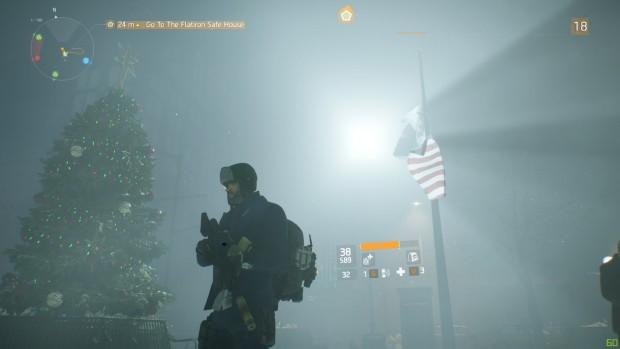 Atmosphärisch bietet The Division einige tolle Anblicke. Es spielt im Winter kurz vor Weihnachten.
