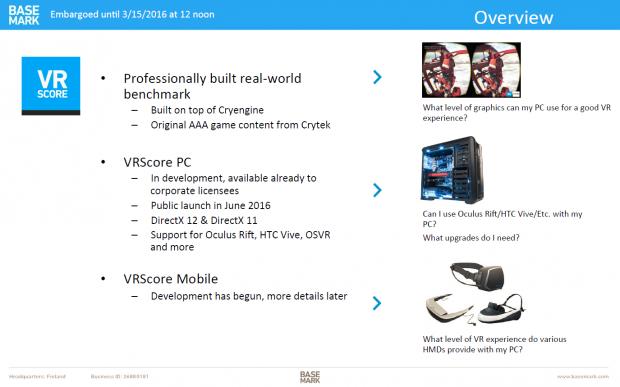 Präsentation zu VR Score (Bild: Basemark)