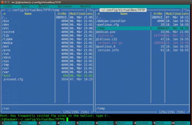 Die automatische Installation erfolgt über den in Virtualbox integrierten TFTP-Server. (Screenshot: Jörg Thoma)