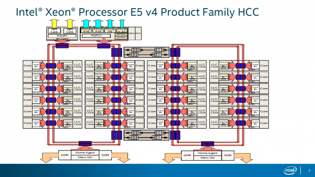 Blockdiagramm des HCC-Dies (Bild: Intel)