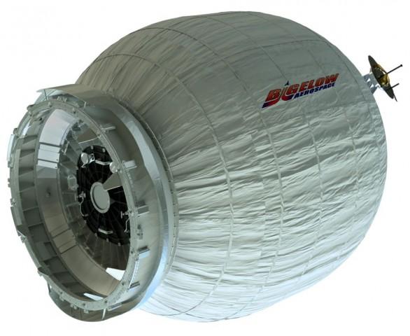 Beam im aufgeblasenen Zustand - für den Transport verpackt ist das Modul deutlich kleiner. (Bild: Bigelow Aerospace)