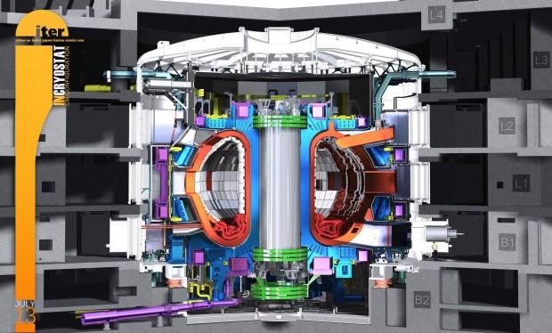 Der Fusionreaktor Iter soll zeigen, dass Fusion durch magnetischen Einschluss machbar ist. (Bild: Iter)