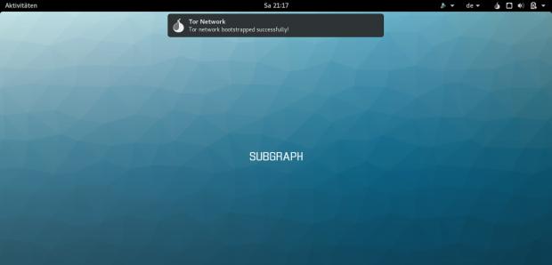 Der gesamte Betriebssystemtraffic läuft über Tor - noch. (Screenshot: Golem.de)