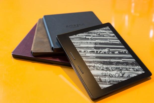 Für den Kindle Oasis gibt es Akkupacks mit drei verschiedenen Farben für den Displayschutz. (Bild: Martin Wolf/Golem.de)