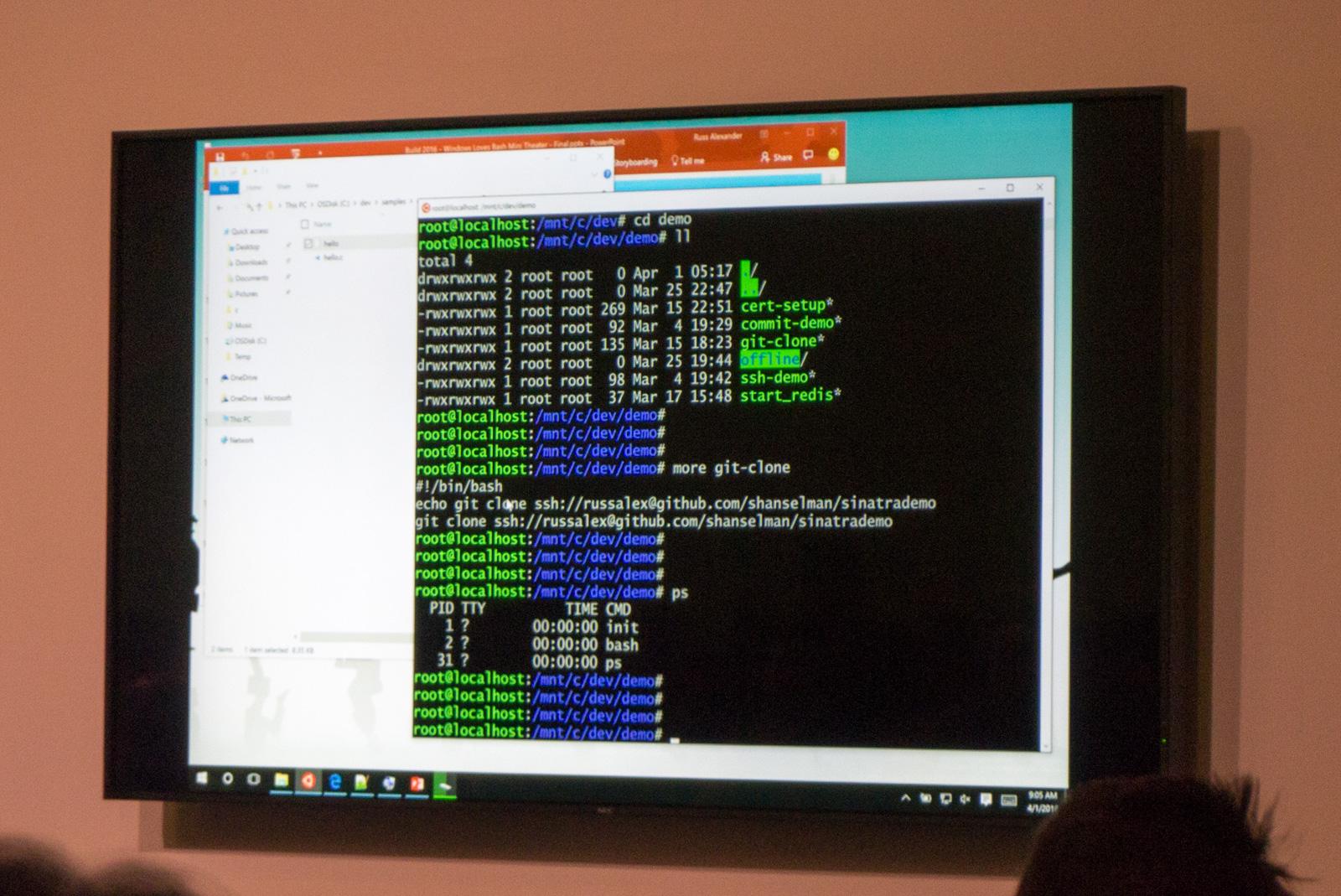 Windows 10 Version 1607: Windows-Subsystem für Linux wird Einschränkungen haben - Arbeiten mit Git ... (Foto: Andreas Sebayang/Golem.de)