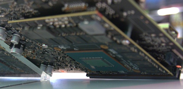 Pascal-Chip auf dem Drive PX 2 (Foto: Marc Sauter/Golem.de)