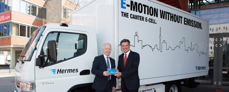 Lieferdienst: Hermes experimentiert mit Elektrolastwagen von Daimler -