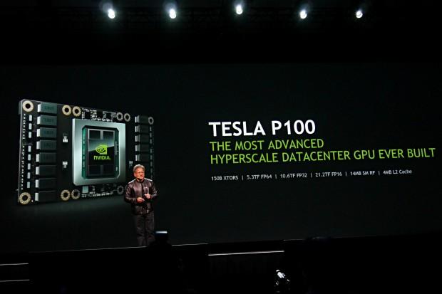 Die Tesla P100 schafft 21,2 Teraflops. (Foto: Marc Sauter/Golem.de)